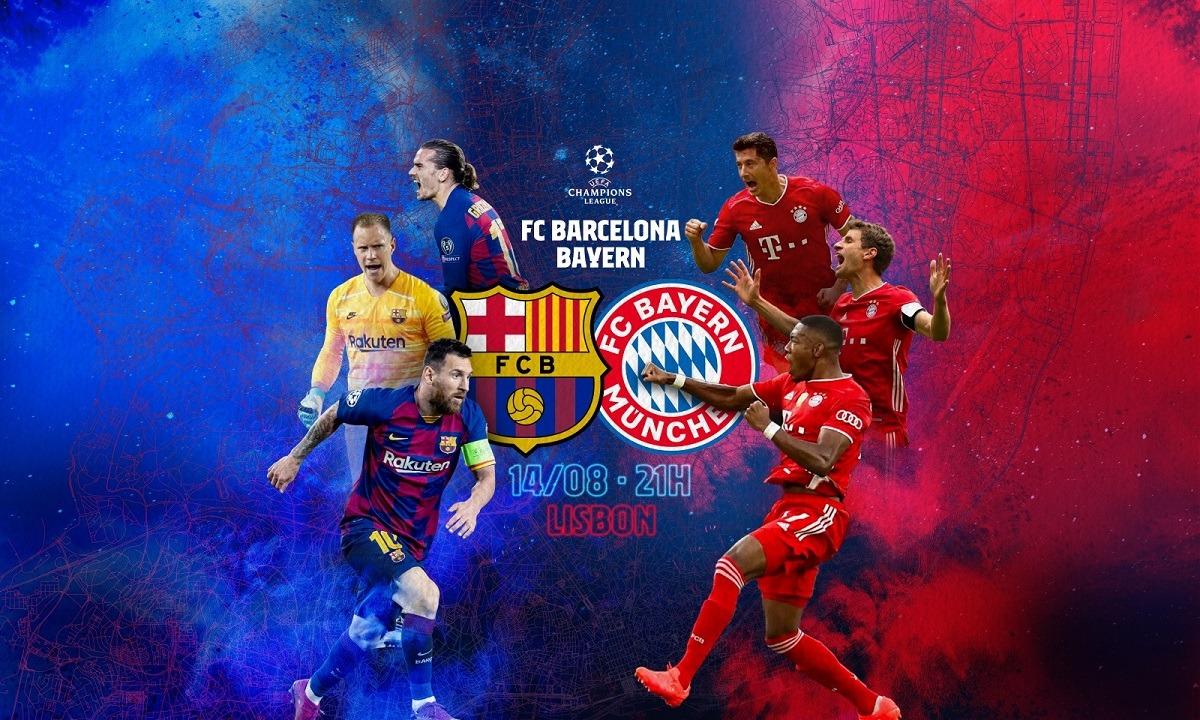 Μπαρτσελόνα – Μπάγερν: Το κανάλι του αγώνα. Μπαρτσελόνα και Μπάγερν θα συγκρουστούν στο «Ντα Λουζ», στα πλαίσια των προημιτελικών του Champions League.