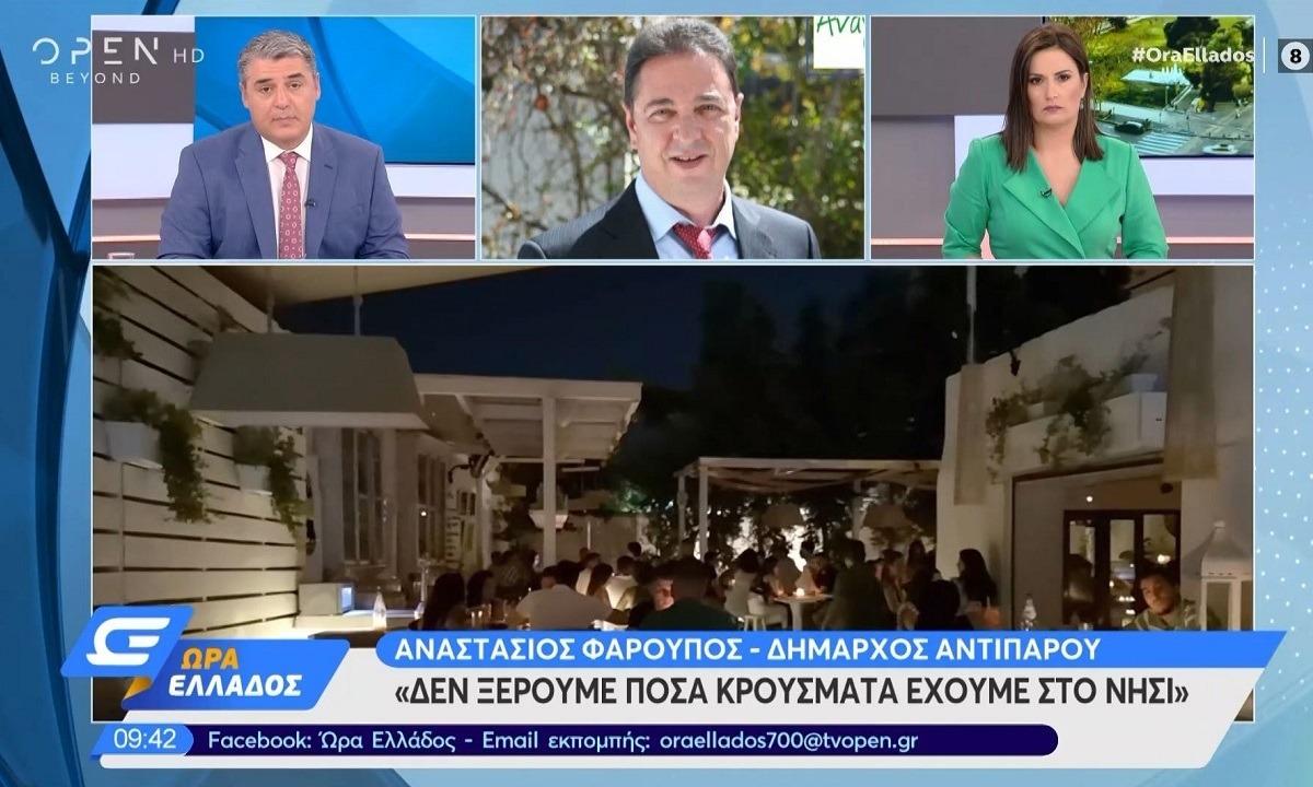 Αντίπαρος – Δήμαρχος: «Δεν μας λένε πόσα κρούσματα έχουμε» (vid)
