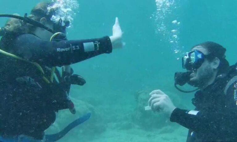 Αλόννησος: Μαγική υποβρύχια… πρόταση γάμου! (vid)
