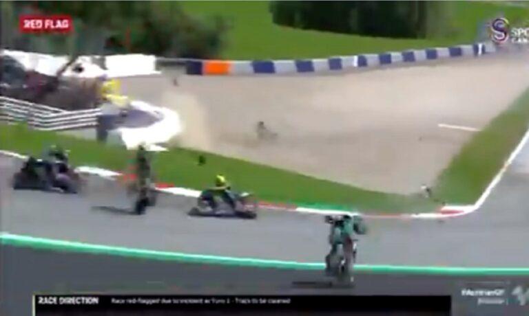 Τρομακτικό ατύχημα στο Moto GP της Αυστρίας: Γλίτωσε στο… τσακ ο Βαλεντίνο Ρόσι! (vid)