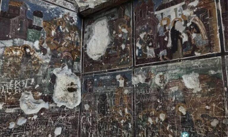 Παναγία Σουμελά: Άγνωστοι κατέστρεψαν τοιχογραφίες της Ιεράς Μονής