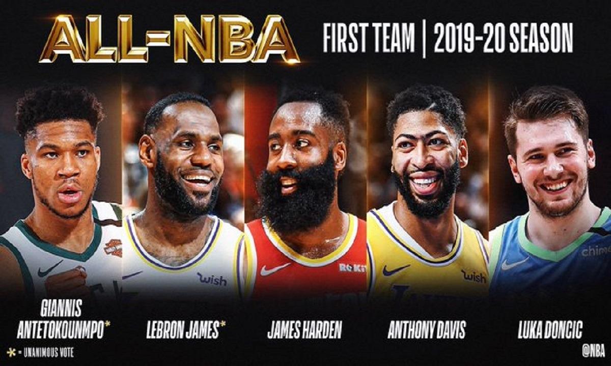 Αντετοκούνμπο: Στην καλύτερη πεντάδα της χρονιάς (Vid+Pics). Ο Γιάννης Αντετοκούνμπο αναδείχθηκε στην καλύτερη πεντάδα του NBA .