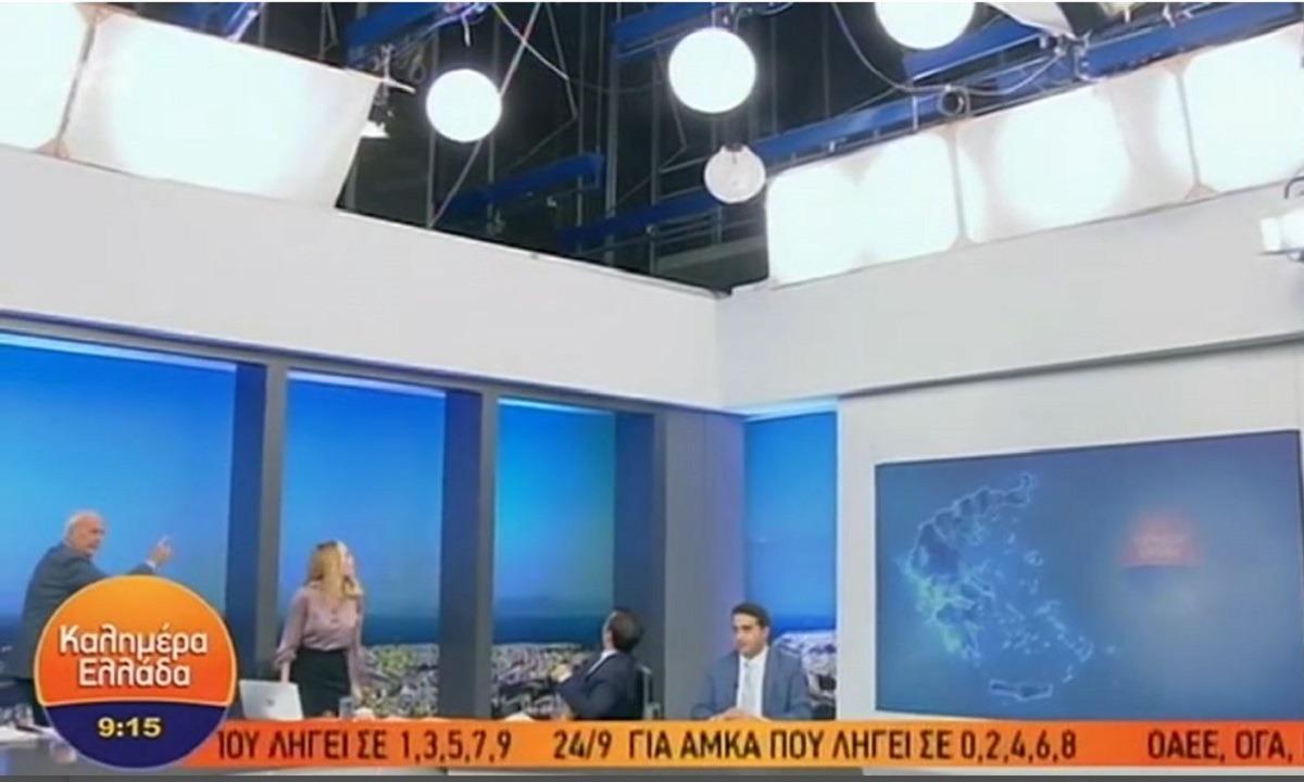 ΑΝΤ1: Έπιασε φωτιά το στούντιο του Παπαδάκη στον αέρα (vid). Φωτιά έπιασε στο πλατό του Καλημέρα Ελλάδα το πρωί της...