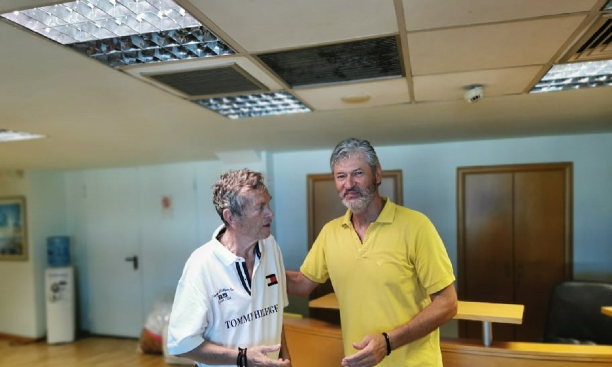 Άρης: Ιστορική συνάντηση Ιωαννίδη- Παπαγεωργίου. Ο Γιάννης Ιωαννίδης και ο πρόεδρος της ΚΑΕ Άρης, Χάρης...