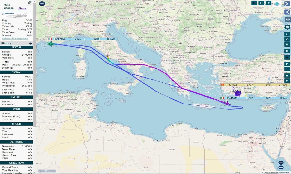 Toύρκοι: Έξαλλοι – Γαλλικό C 135 εφοδίασε ελληνικά F 16 πάνω από το Καστελόριζο