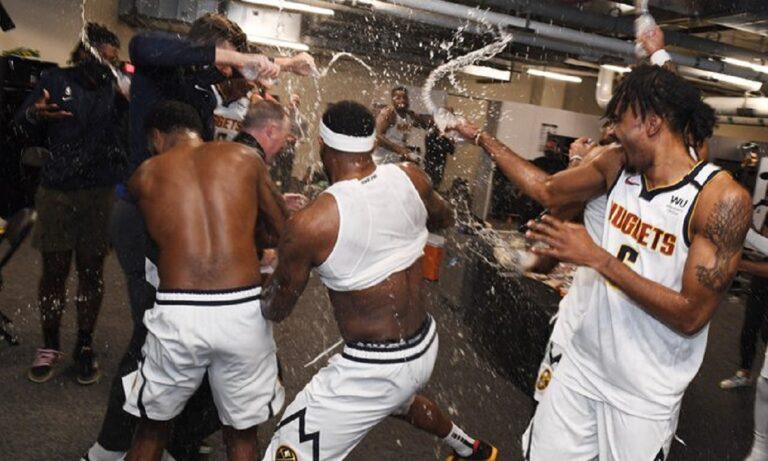 Ντένβερ Νάγκετς: Τρελό «πάρτι» μετά την πρόκριση επί των Κλίπερς! (vids+pics)