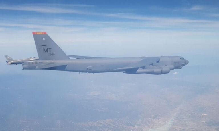 Ελληνικά F-16 συνόδευσαν αμερικανικά  βομβαρδιστικά