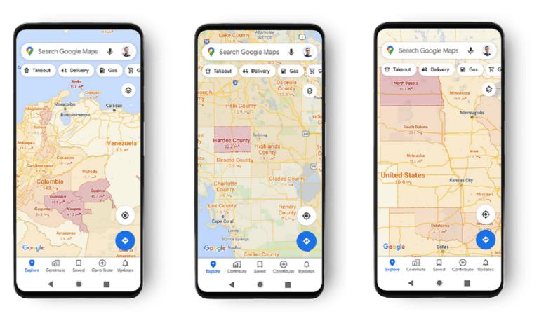 Νέα λειτουργία της Google Maps: Μπορείτε να δείτε τα κρούσματα κορονοϊού ανά περιοχή