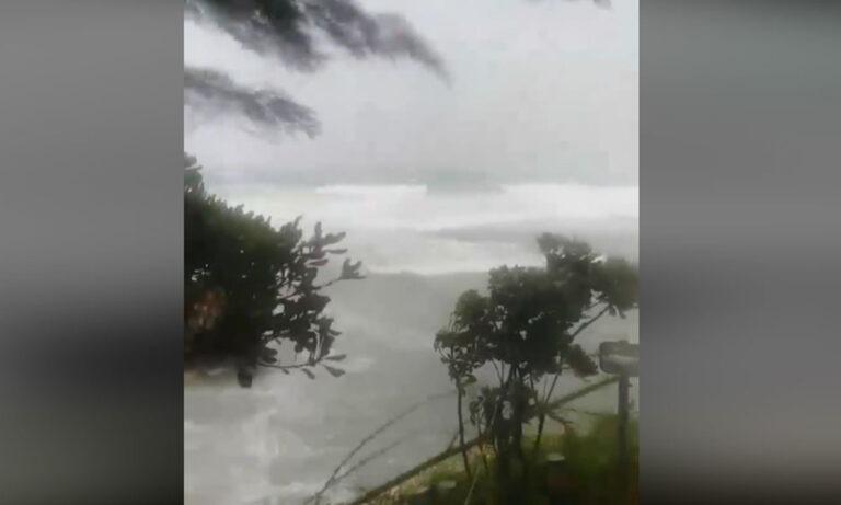 Ιανός: Απίστευτοι άνεμοι στη Γαστούνη Ηλείας (vid)