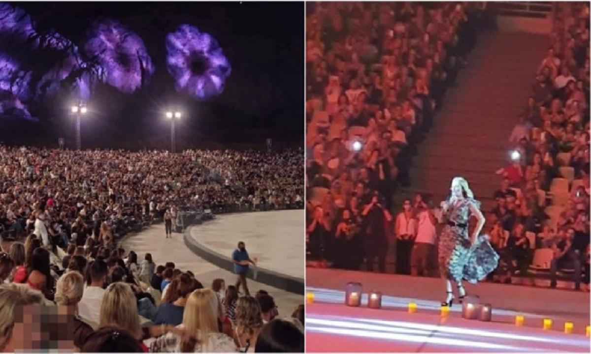 Συναυλία Νατάσας Θεοδωρίδου: Εικόνες ακραίου συνωστισμού στο Κατράκειο της Νίκαιας