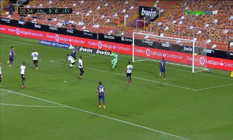 La Liga: Εντυπωσιακή η Βαλένθια 4-2 την Λεβάντε