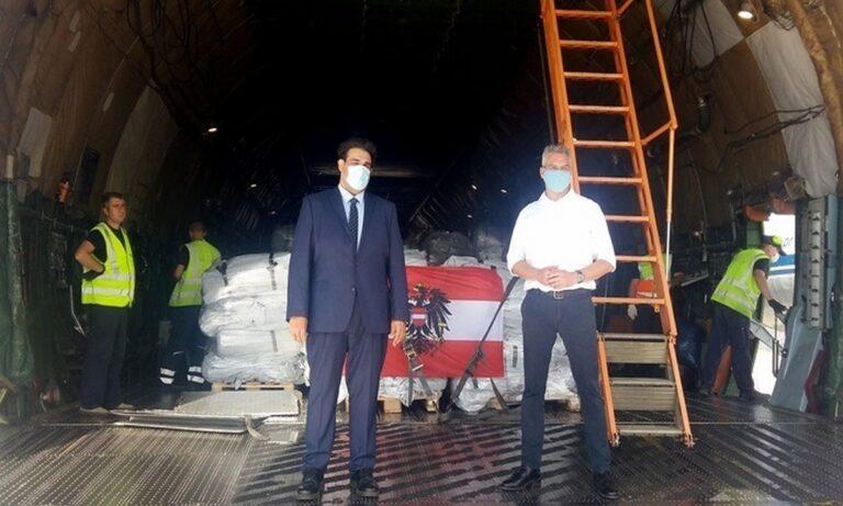 Λέσβος: Ανθρωπιστική βοήθεια από Αυστρία και Σλοβενία