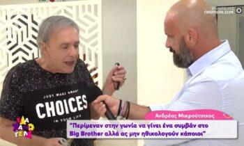 Μικρούτσικος: «Περίμεναν το Big Brother στη γωνία»