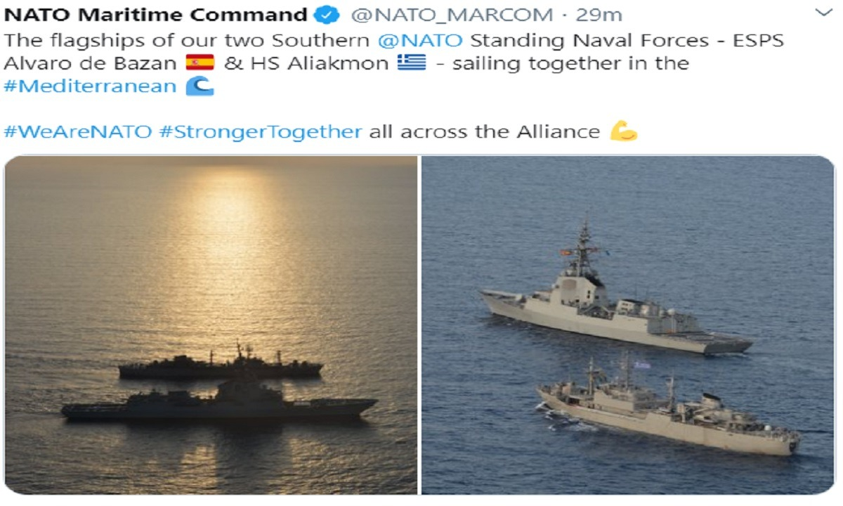 NATO: Φωτογραφία με ελληνικό και ισπανικό πλοίο στην Ανατολική Μεσόγειο