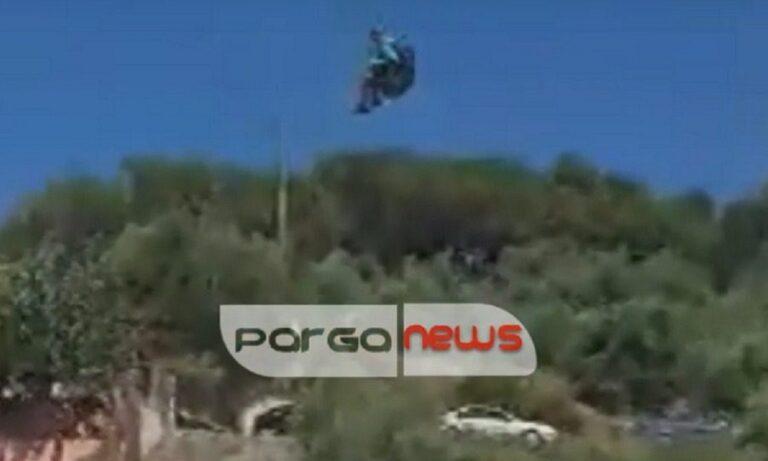 Πάργα: Αθλητής του παρά πέντε προσγειώνεται σε παρμπρίζ και γίνεται viral (vid)