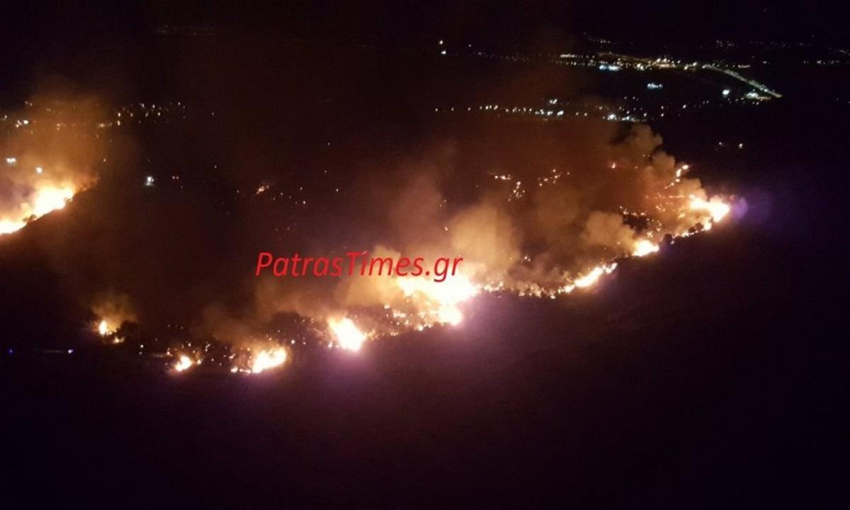 Πάτρα: Μεγάλη πυρκαγιά για δεύτερη φορά στο ίδιο σημείο (vid). Πάτρα: Ολονύχτια μάχη της Πυροσβεστικής με φωτιά στα Συχαινά Πυρκαγιά...