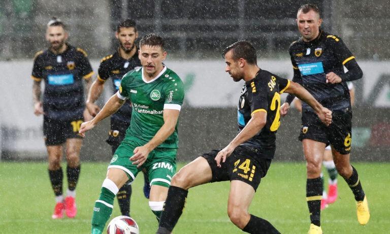 Σεντ Γκάλεν-ΑΕΚ 0-1 (Τελικό)