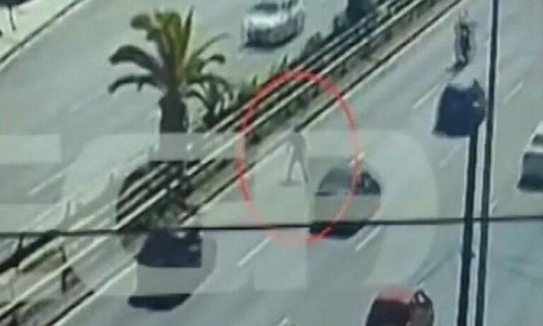 Συγγρού: Πεζός πήγε να περάσει τον δρόμο και τον χτύπησε αυτοκίνητο (vid)