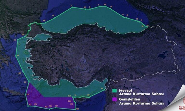Ελληνοτουρκικά: Νέα πρόκληση των γειτόνων – Με νέο χάρτη «κόβουν» στη μέση το μισό Αιγαίο