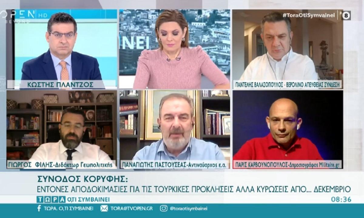 Ναύαρχος Παστουσέας: «Ώρα η Ελλάδα να επεκταθεί στα 12 ναυτικά μίλια – Παράλογος ο Ερντογάν» (vid)