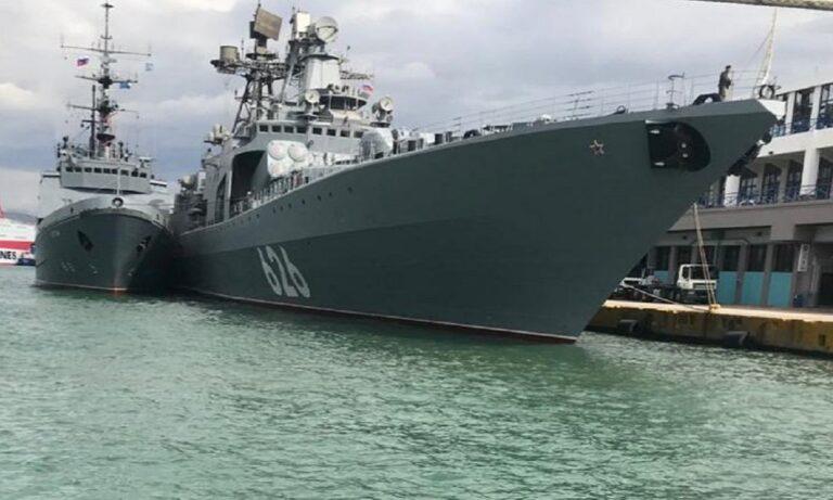 Πειραιάς: Κατέπλευσε το επιβλητικό Ρωσικό πολεμικό «Vice Admiral Kulakov»