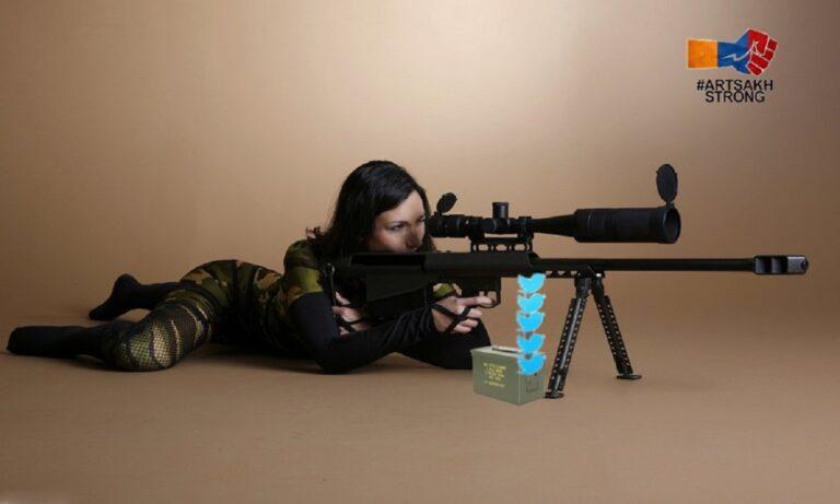 Ναγκόρνο Καραμπάχ: Sniper Girls ονομάζονται οι νεαρές Αρμένισες οι οποίες δίνουν τον δίκο τους αγώνα υπέρ του Αρτσάχ, από το διαδίκτυο.