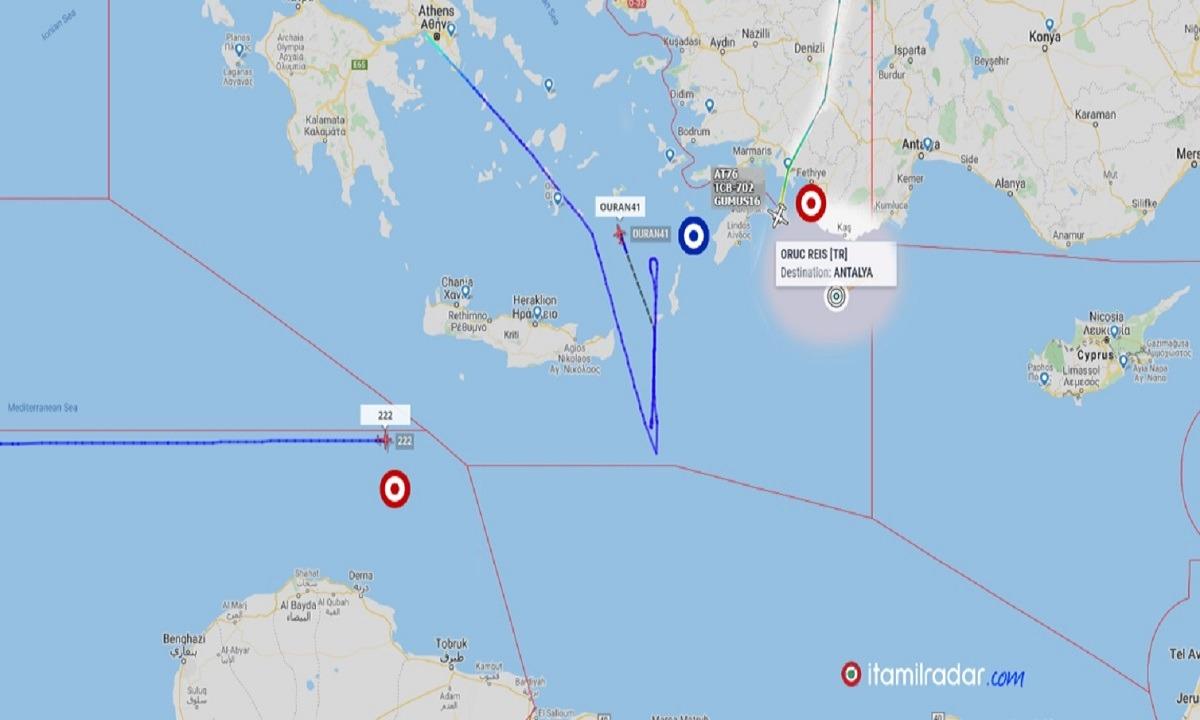 Ελληνοτουρκικά: Ελληνικό Embraer και τουρκικό ATR 72-600 σχεδόν συναντήθηκαν στο Αιγαίο