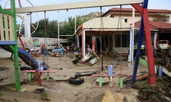 Κρήτη: Εικόνες «βιβλικής» καταστροφής από την κακοκαιρία