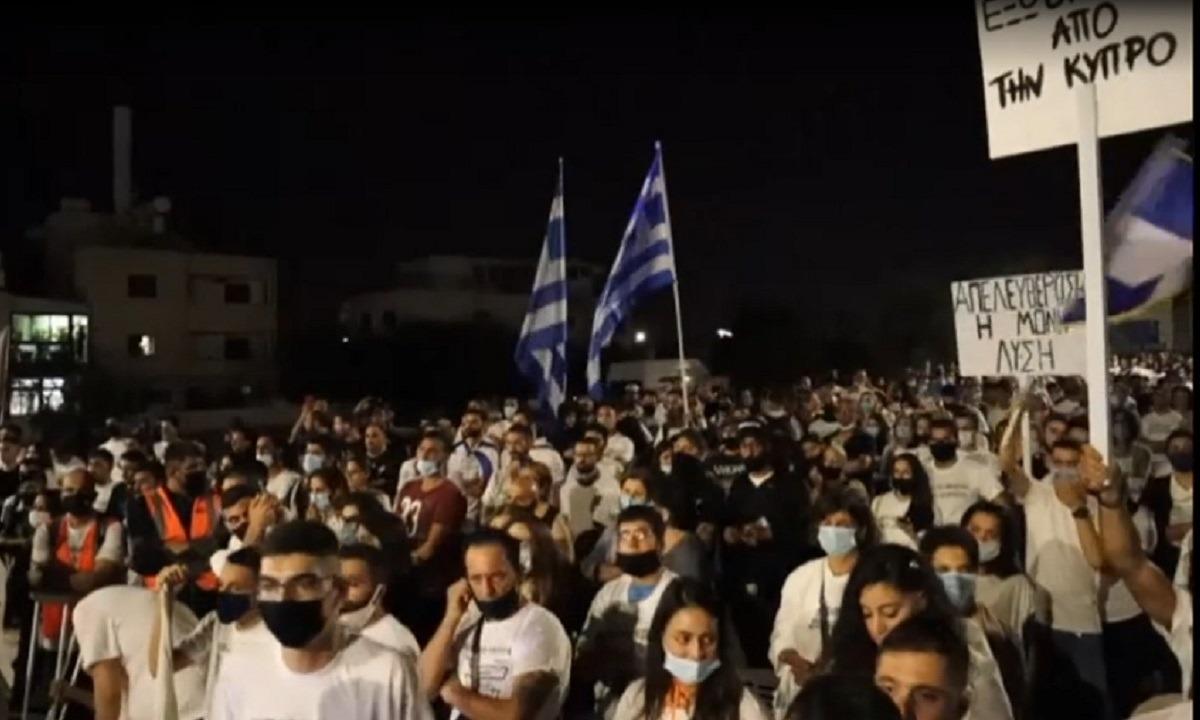 Κύπρος: Συγκέντρωση διαμαρτυρίας για την αθλιότητα των Τούρκων στα Βαρώσια (vid)