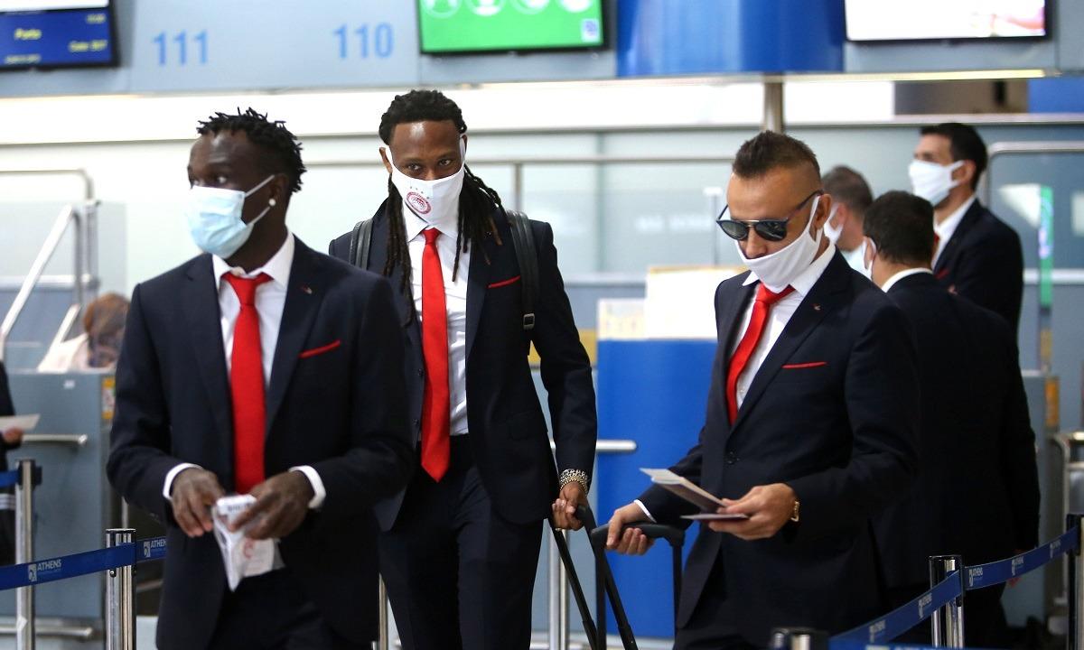 Ολυμπιακός: Πέταξε για Πορτογαλία (pics)