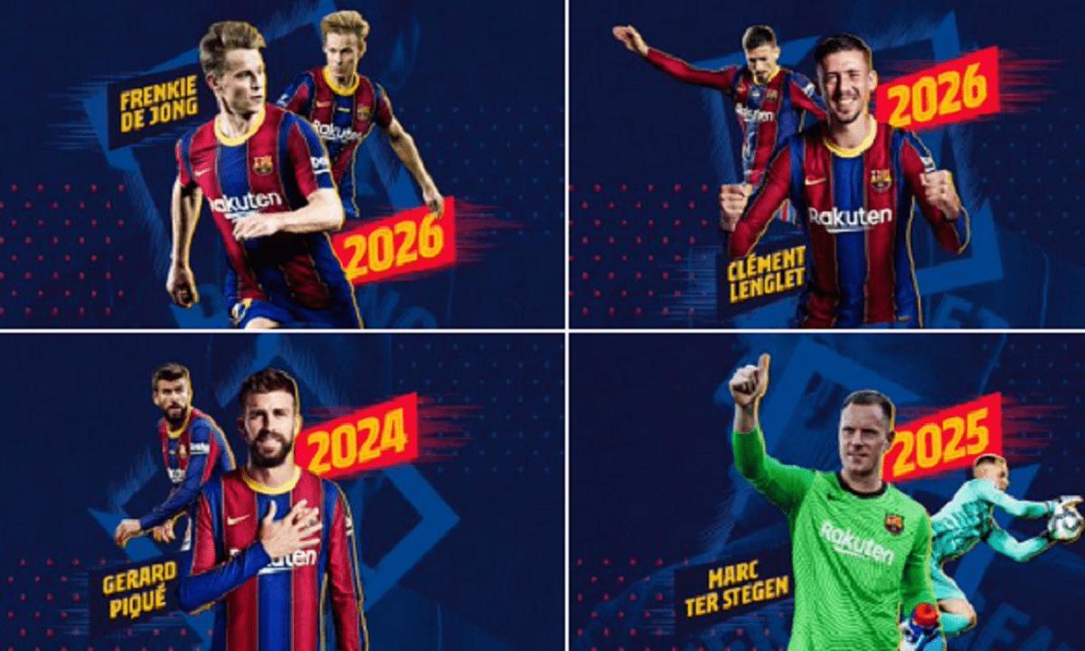 Μπαρτσελόνα: Ανακοίνωσε ταυτόχρονα τέσσερις ανανεώσεις παικτών με «τρελές» ρήτρες (pic)