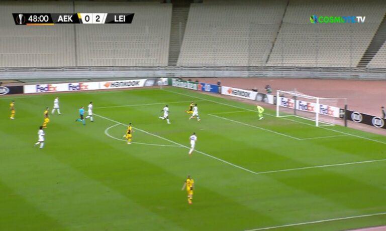 ΑΕΚ – Λέστερ: Μειώνει ο Τάνκοβιτς, μεγάλη ευκαιρία και για το 2-2 (vid)