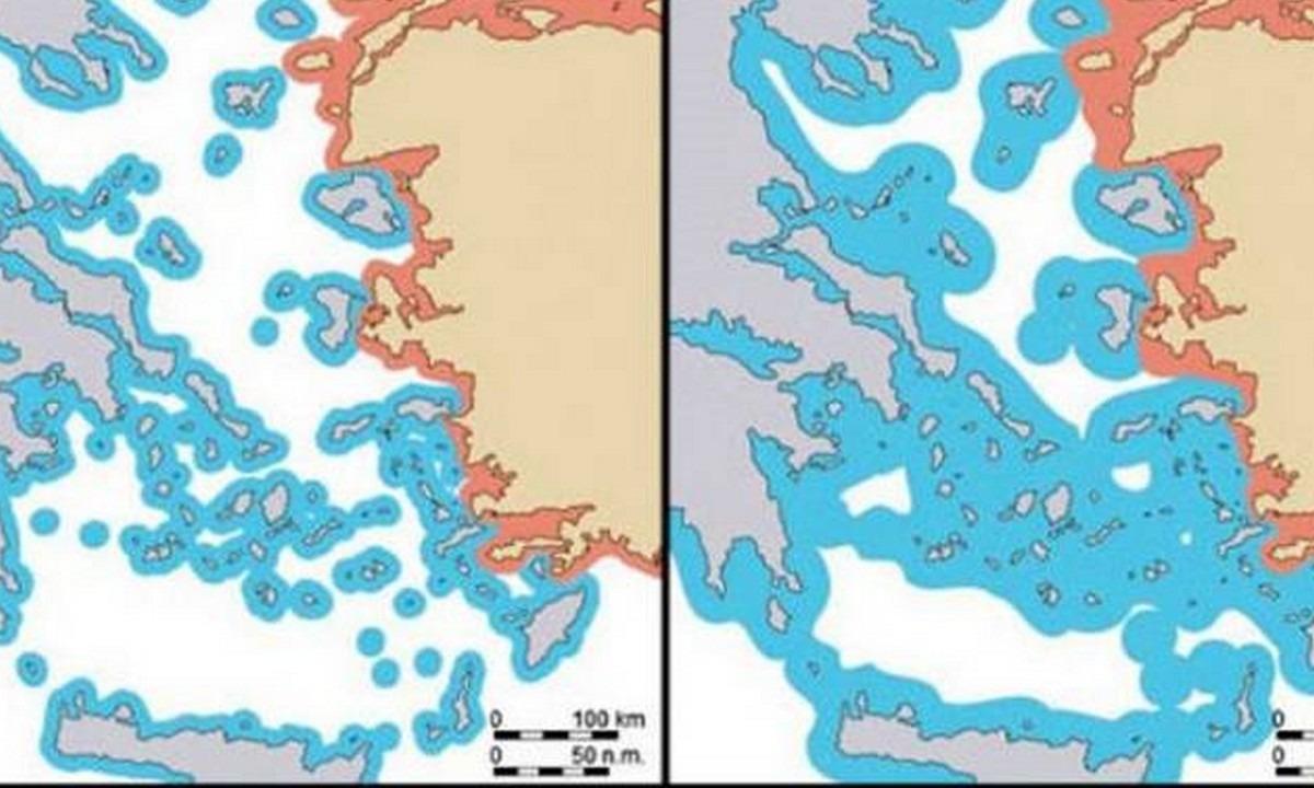 Ελληνοτουρκικά: Κι όμως, η CIA αναφέρει ότι η Ελλάδα διαθέτει αιγιαλίτιδα ζώνη 12 ν.μ!