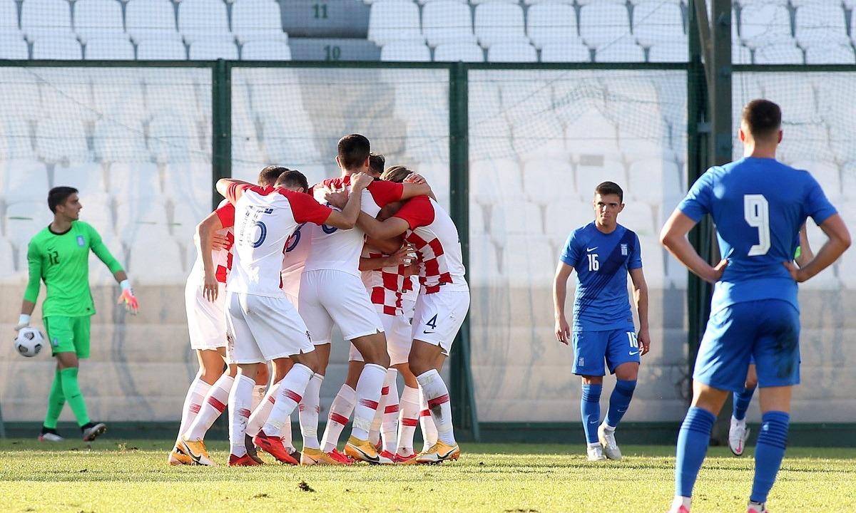 Ελλάδα Κ21 – Κροατία Κ21 0-1: Όνειρο ήταν και πάει – Εκτός Euro-21 η Εθνική Ελπίδων