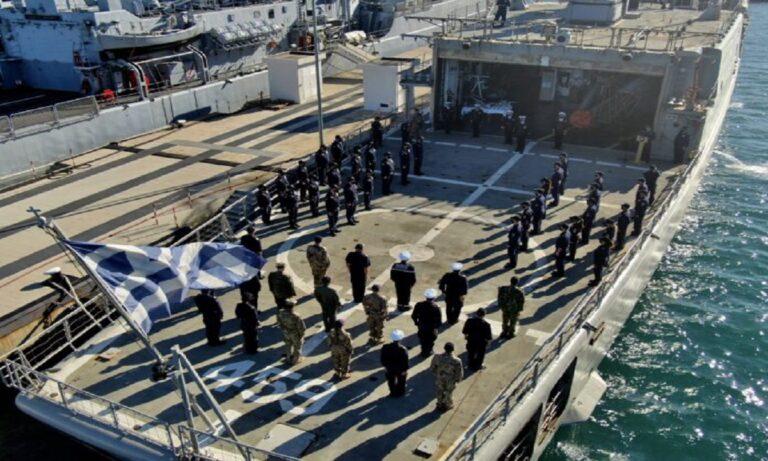 Ελλάδα: Ανάληψη καθηκόντων διοικητή εν πλω της επιχείρησης «IRINI»