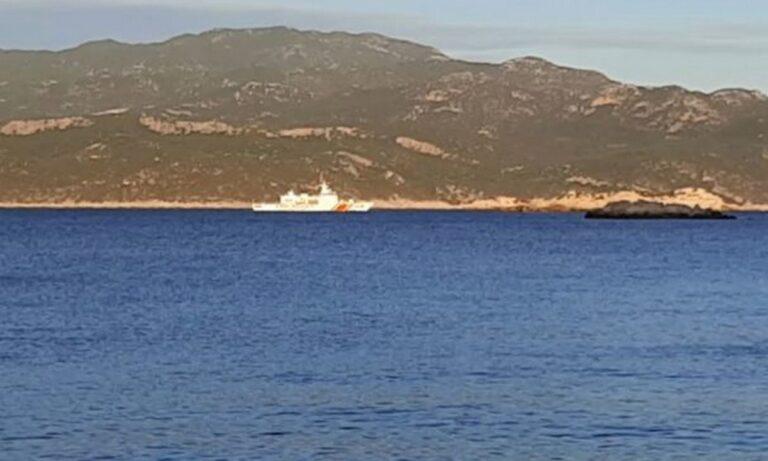 Ελληνοτουρκικά: Κορβέτα της τουρκικής ακτοφυλακής περιπολεί στις ακτές του Καστελόριζου (vid)