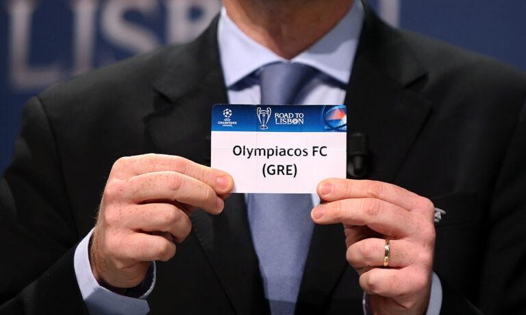 Ολυμπιακός – Champions League: Live streaming η κλήρωση