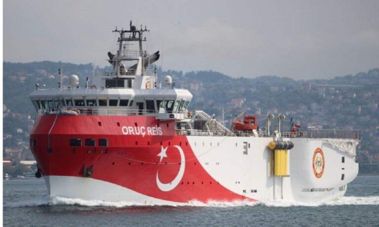 Oruc Reis: Πανηγυρίζουν οι Τούρκοι για την επιστροφή του στην ελληνική υφαλοκρηπίδα