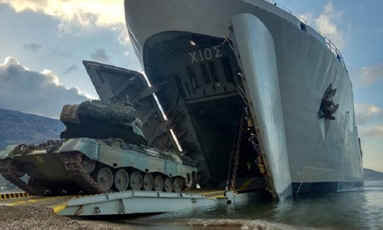 Πολεμικό Ναυτικό: Τα αρματαγωγά δένουν στον Βόλο και γίνονται «ένα» με τους Πεζοναύτες