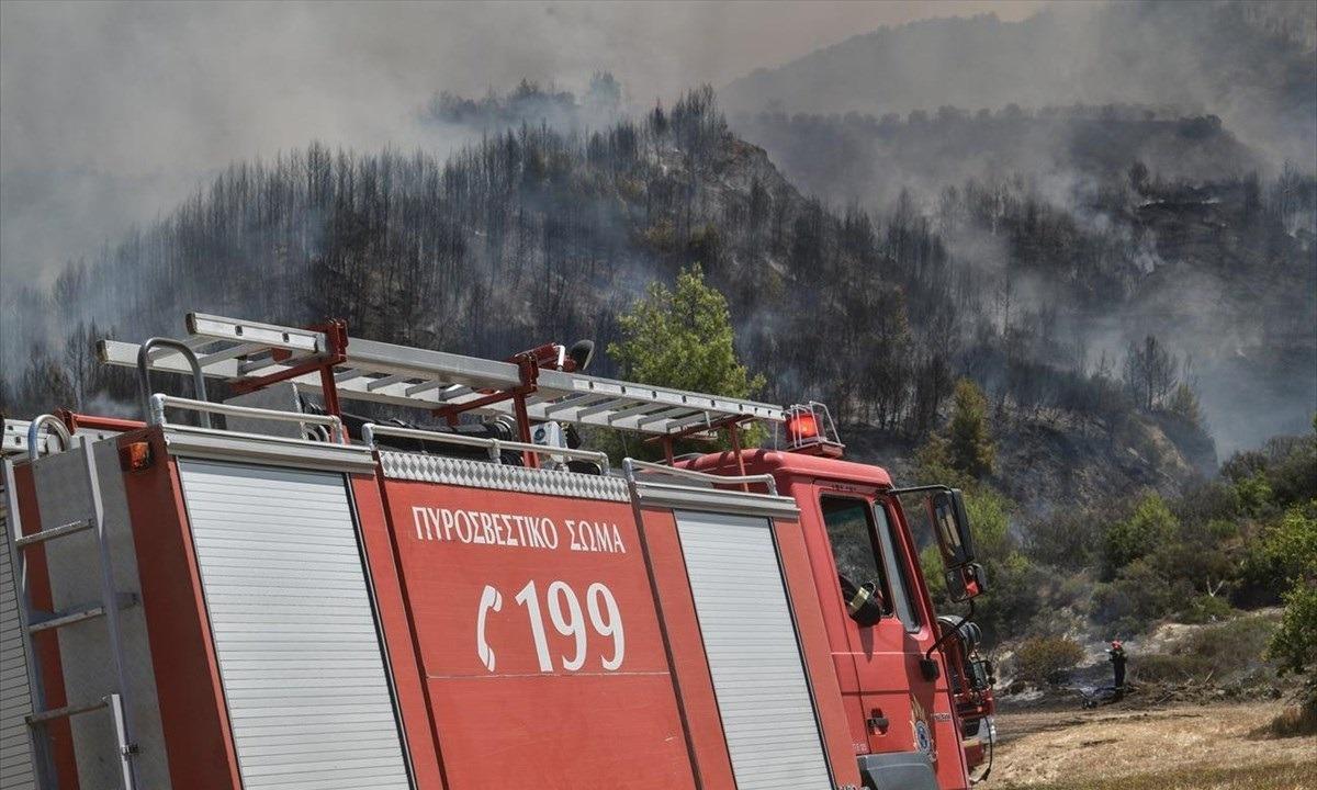 Ζάκυνθος: Μεγάλη μάχη με τη φωτιά από την Πυροσβεστική