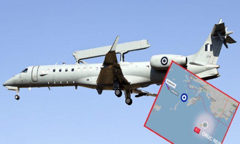 Toυρκία: Σάστισαν οι Τούρκοι – Ελληνικό Embraer πέρασε πάνω από το Oruc Reis