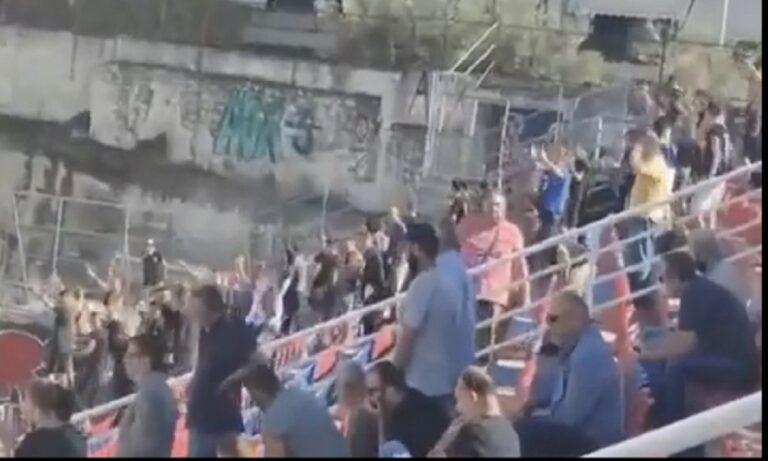 Χαραυγιακός: Κίνδυνος βαριάς τιμωρίας – Σε ματς «υποτίθεται» κεκλεισμένων των θυρών 100 οπαδοί «επιτέθηκαν» στους παίκτες της Μυκόνου από την εξέδρα! (pics)