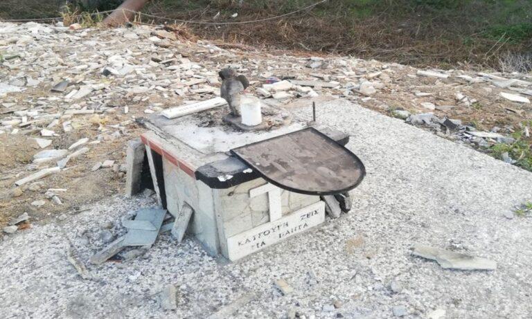 ΠΑΟΚ: Γκρέμισαν το εκκλησάκι για τον Παναγιώτη Κατσούρη! (pic)