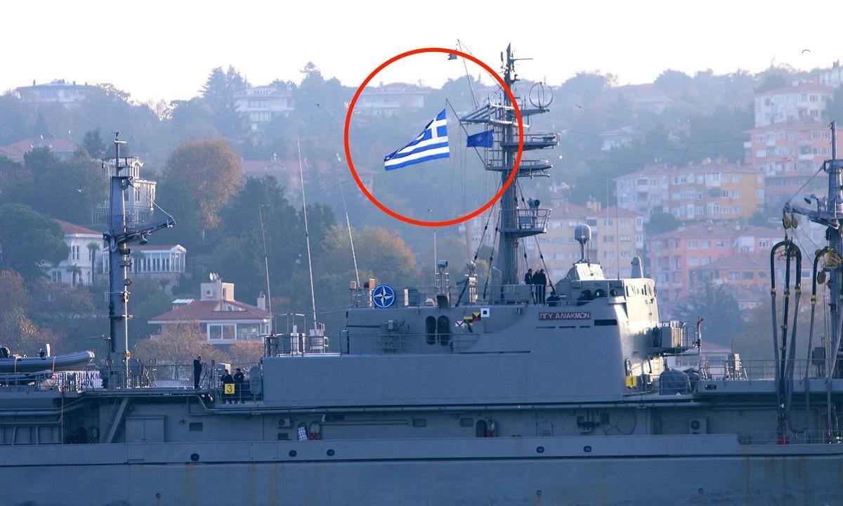 Ελληνοτουρκικά: Σε τουρκικό ναύσταθμο με την Ελληνική σημαία ψηλά, πλοίο του πολεμικού ναυτικού!
