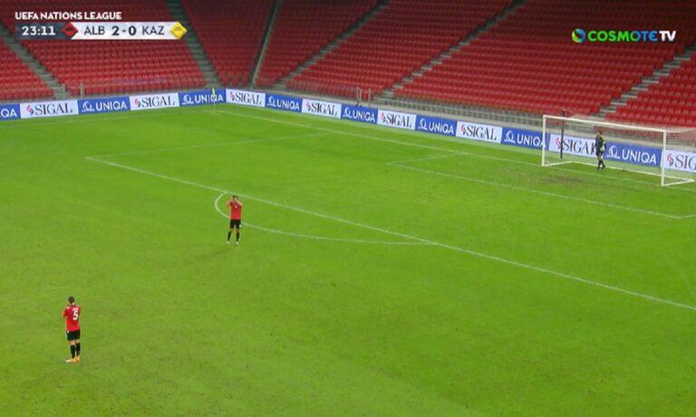 Αλβανία - Καζακστάν: Οι Αλβανοί έφαγαν γκολ από τη σέντρα, με τη σέντρα! (vid)