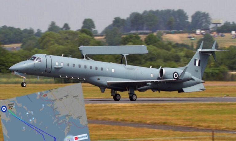 Eλληνοτουρκικά: Πολύ ενδιαφέρον είχε το απόγευμα του Σαββάτου στην Ανατολική Μεσόγειο, αφού ένα ελληνικό ιπτάμενο ραντάρ σάρωσε την περιοχή των παράνομων ερευνών του Oruc Reis.