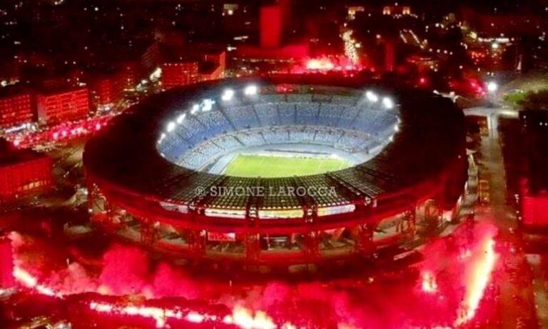 Ανατριχίλα: «Κάηκε» το γήπεδο της Νάπολι στο «αντίο» του Μαραντόνα (vids)