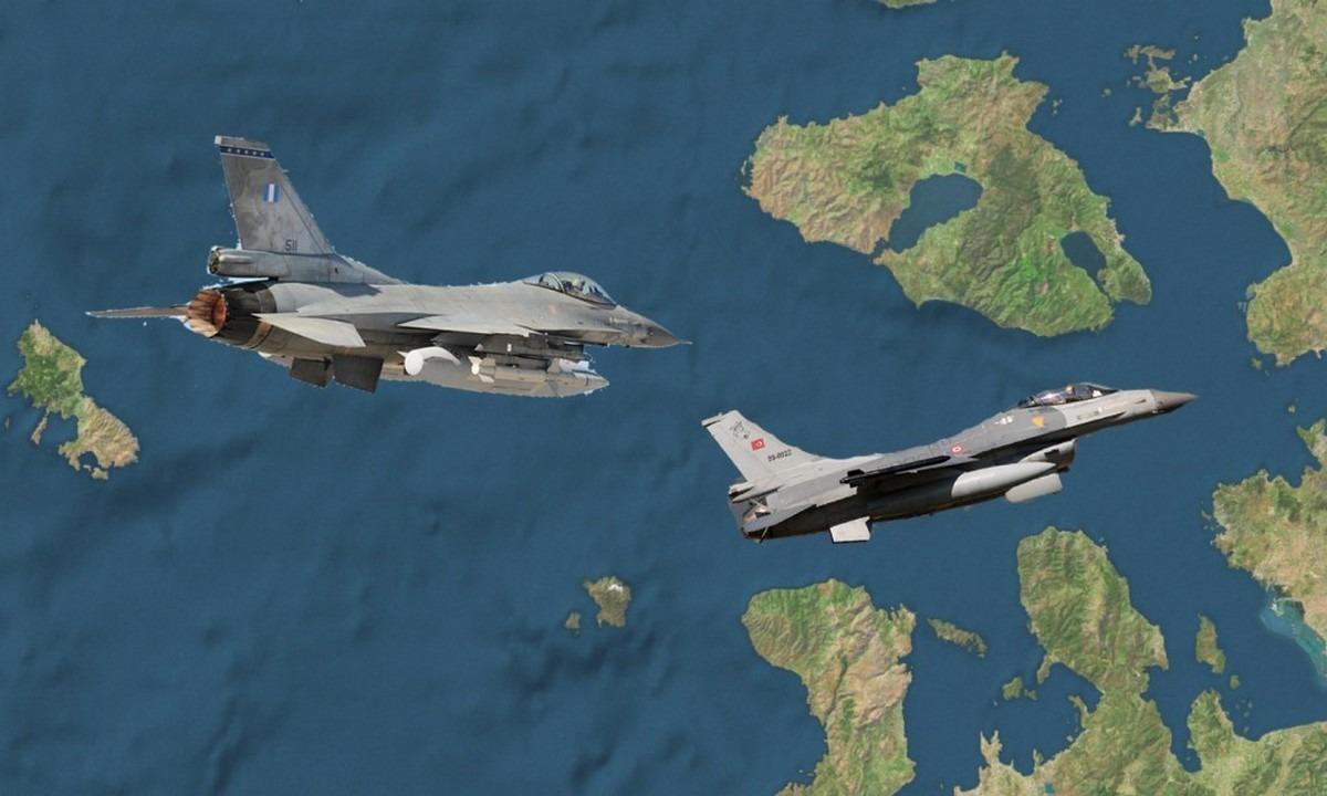Ελληνοτουρκικά: Τέσσερις Εμπλοκές με οπλισμένα τουρκικά F-16 μεταξύ Λέσβου και Λήμνου!