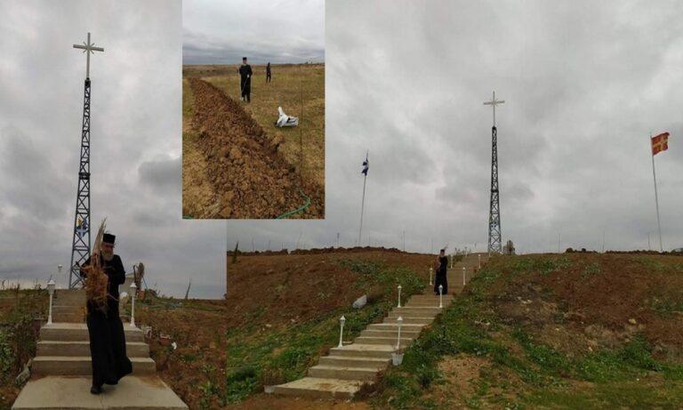 Ελληνοτουρκικά σύνορα: Φυτεύτηκαν 80 καρποφόρα δέντρα γύρω απ' τον Σταυρό της Μονής Βύσσας (pics)