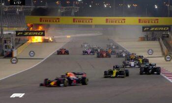 Formula 1: ΣΟΚ στην εκκίνηση – Πήρε φωτιά το μονοθέσιο του Ρομαίν Γκροζιάν (vid). Σοκαριστικό ατύχημα στη Formula 1 και το Γκραν Πρι του Μπαχρέιν.